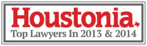 Houstonia Top Lawyers Badge